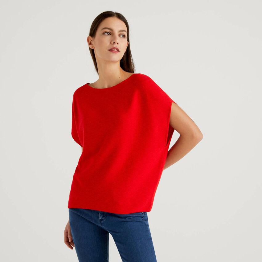 100% cotton short sleeve sweater