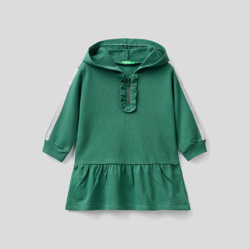 Sweat dress with lurex details