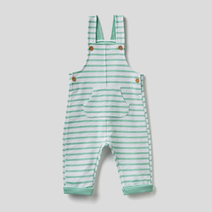 Printed overalls in organic cotton