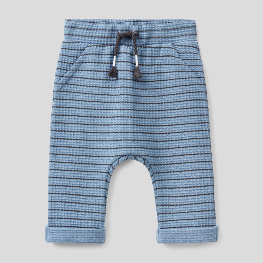 Striped trousers in organic cotton