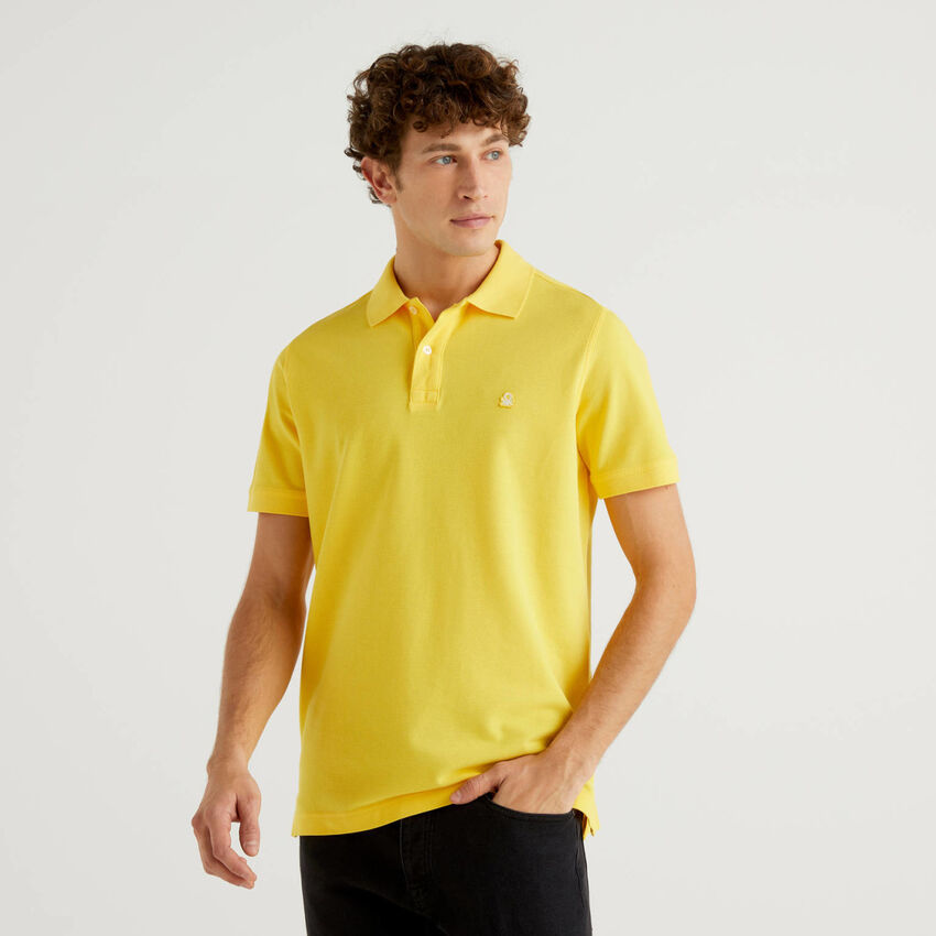 Regular fit yellow polo
