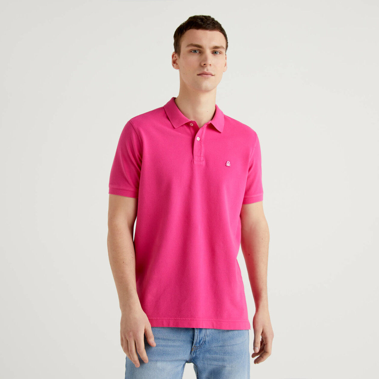 Fuchsia regular fit polo