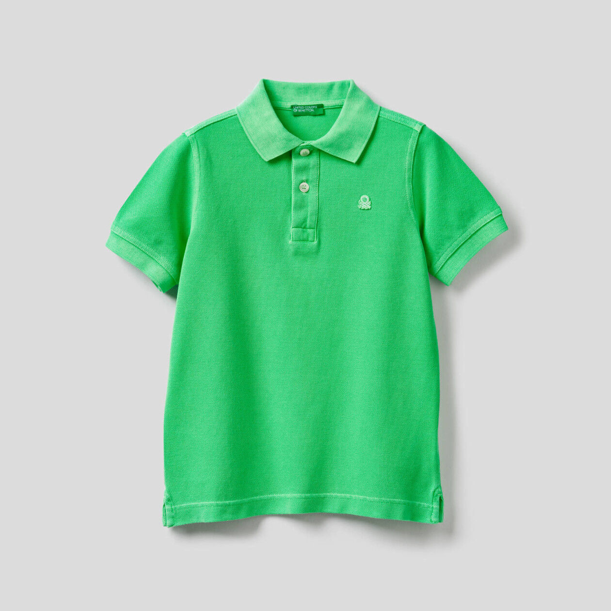 Polo in 100% neon cotton