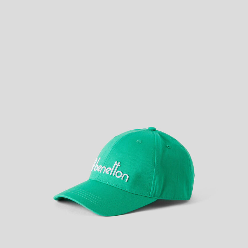 Baseball cap with embroidered logo