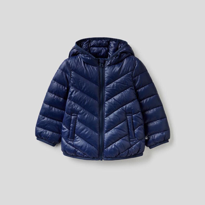 Zip-up quilted jacket
