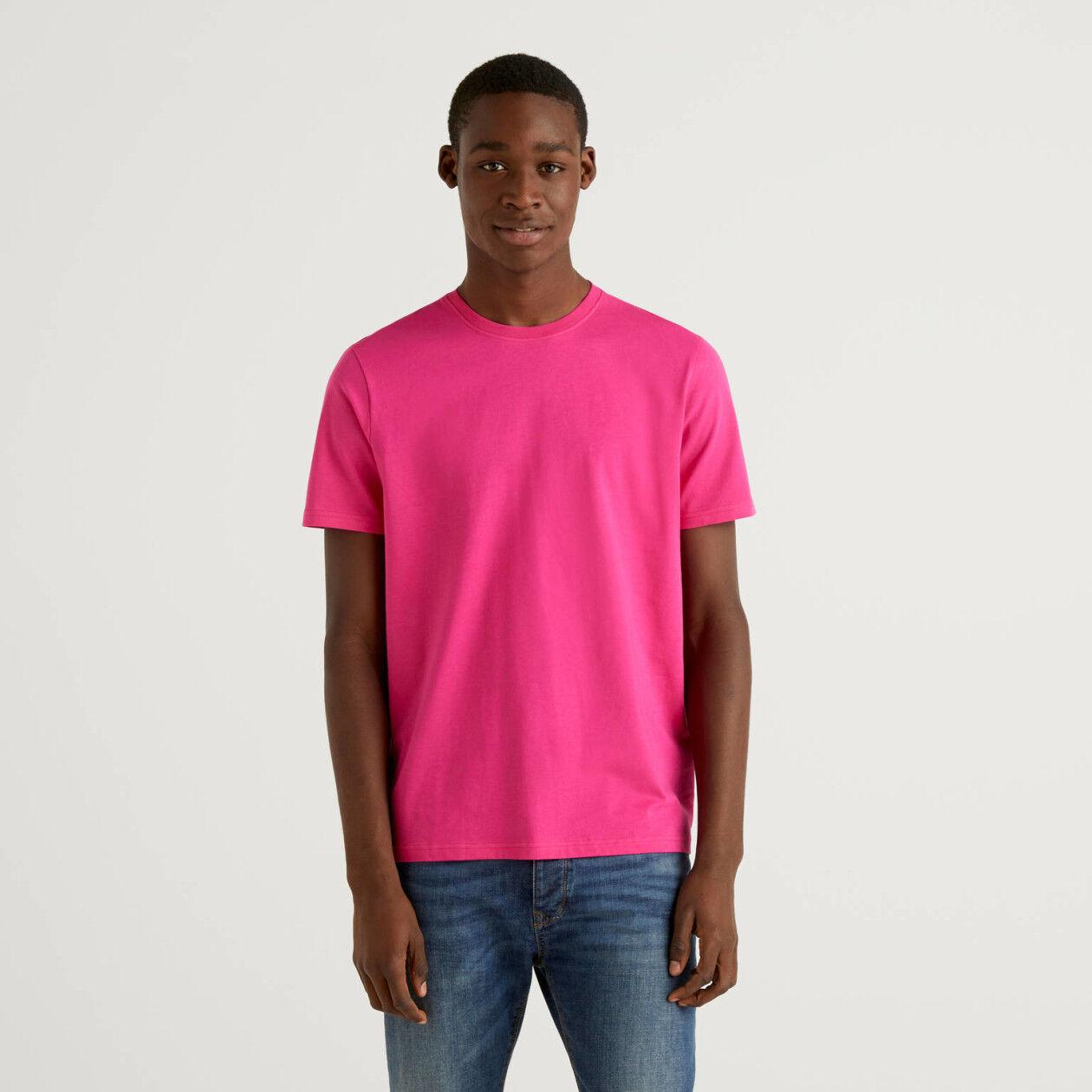 Fuchsia t-shirt in pure cotton