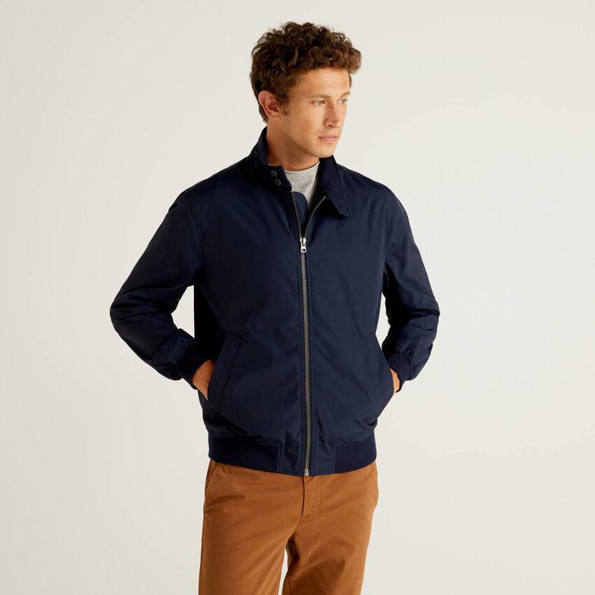 Jacket in cotton blend