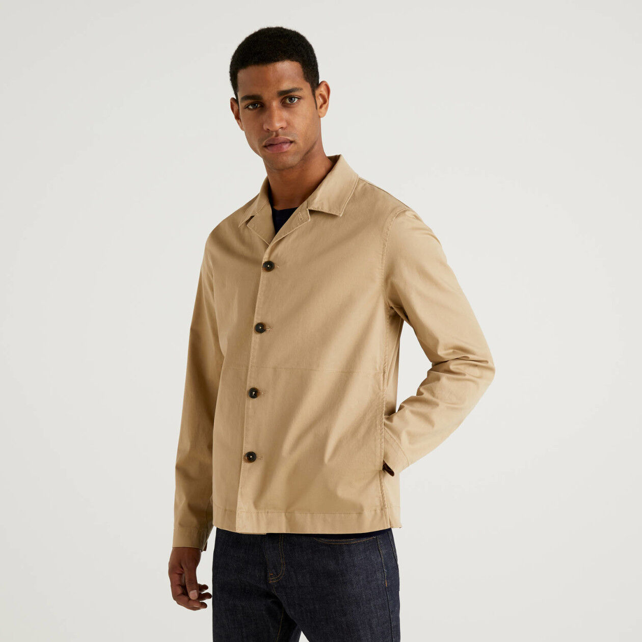 Stretch cotton jacket