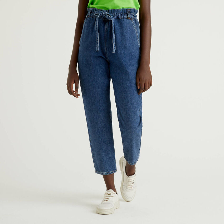 Denim trousers in 100% cotton