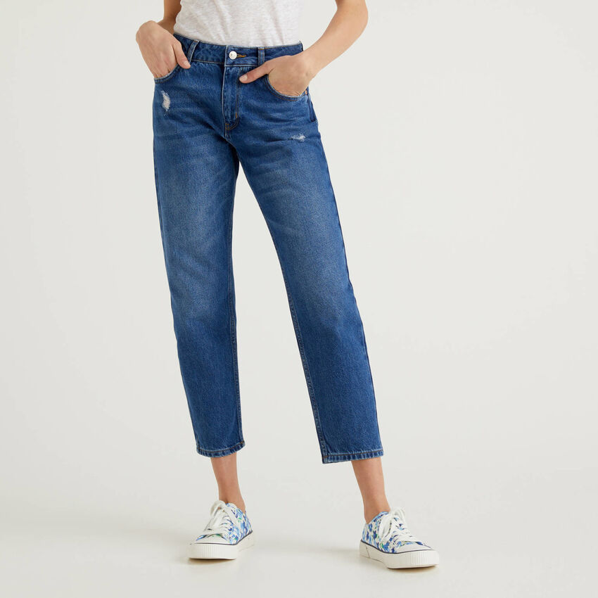 Slim fit jeans with tears
