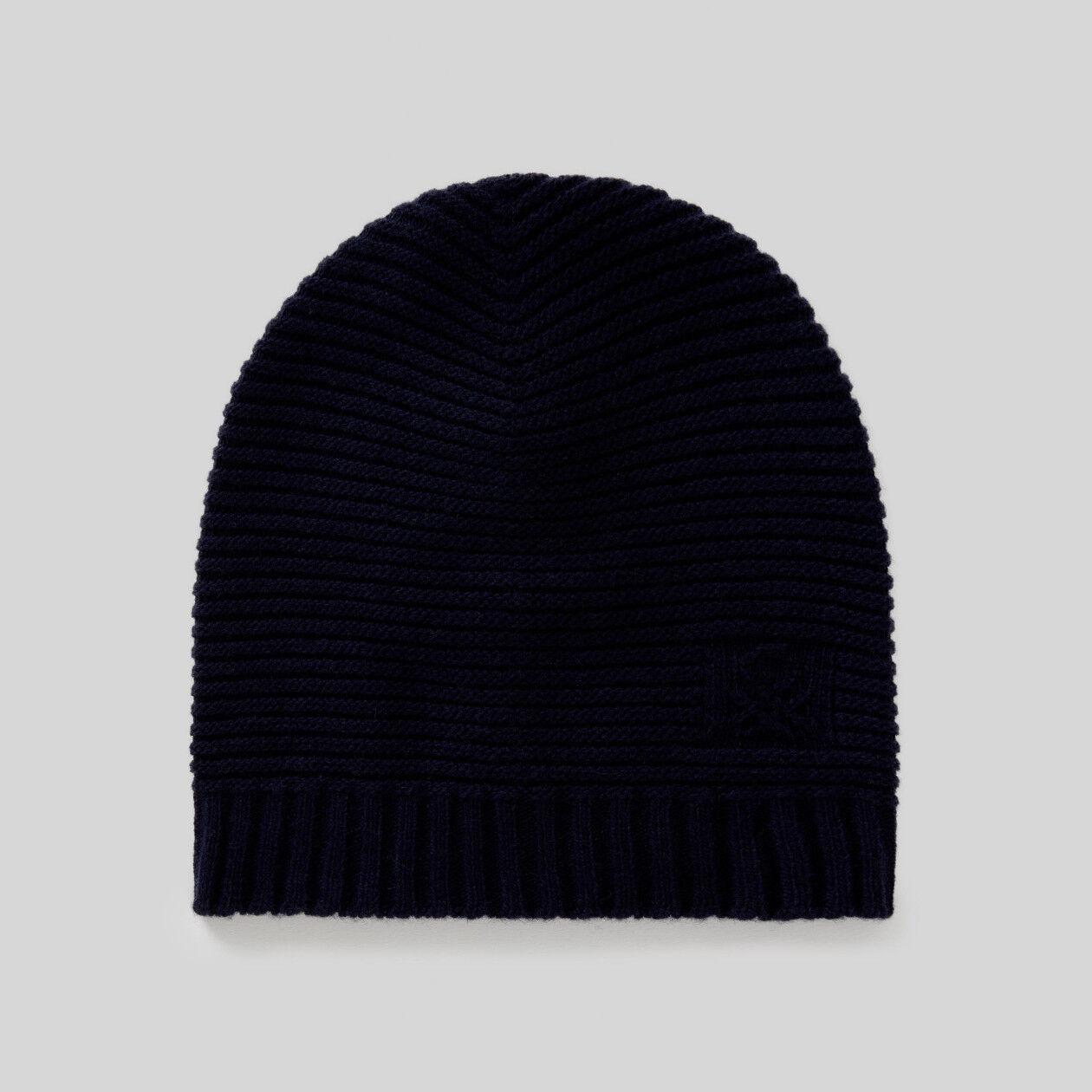 Wool blend hat