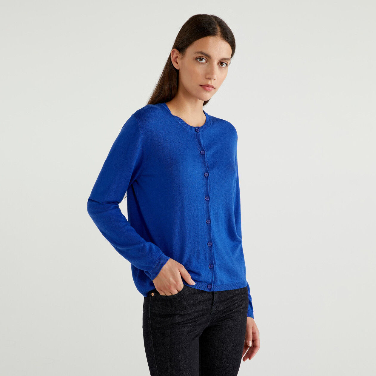 Cardigan in cotton and Modal®
