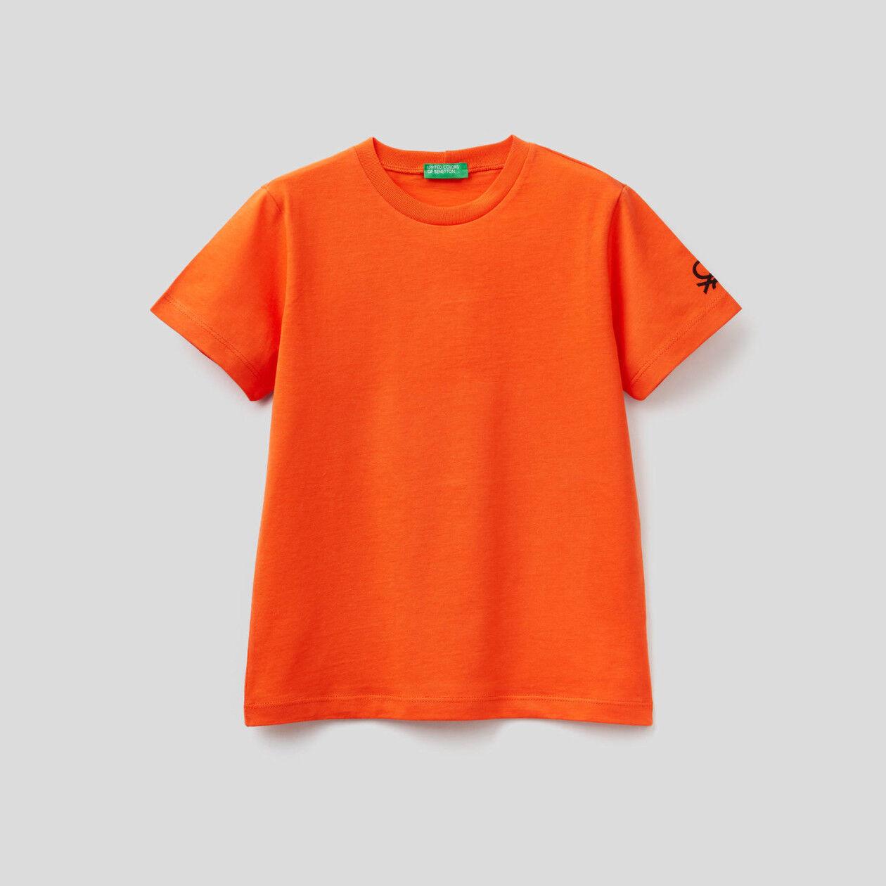 Organic cotton t-shirt with logo print