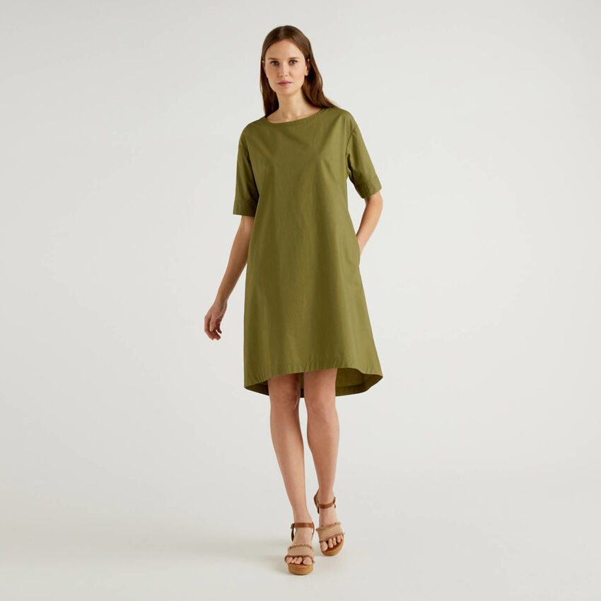 100% cotton loose dress