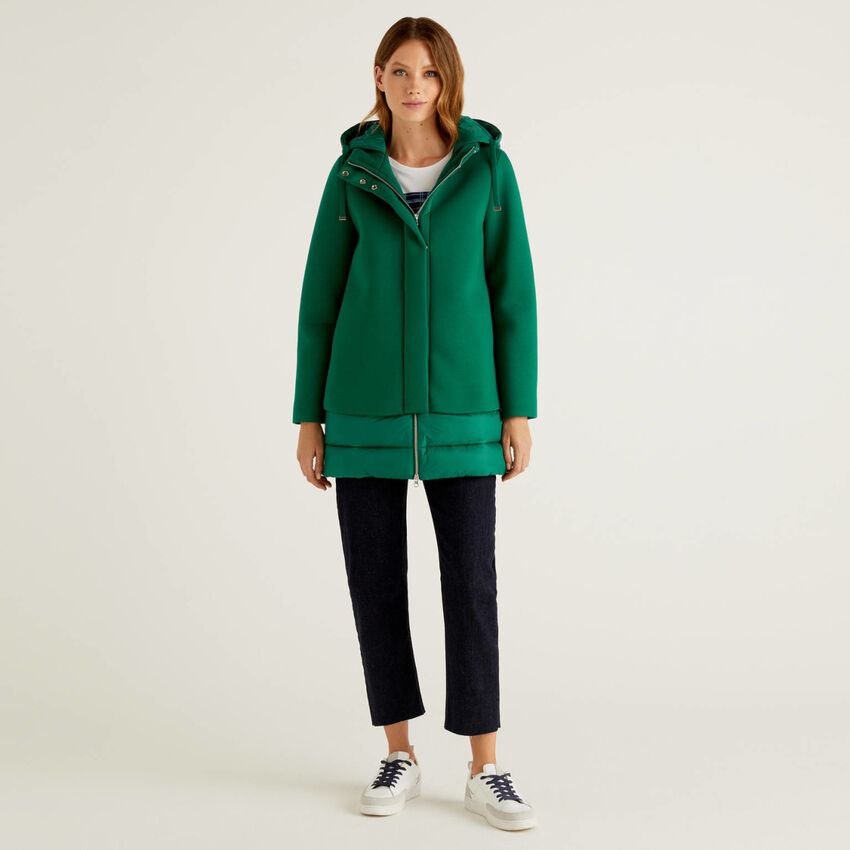Jacket with padded details