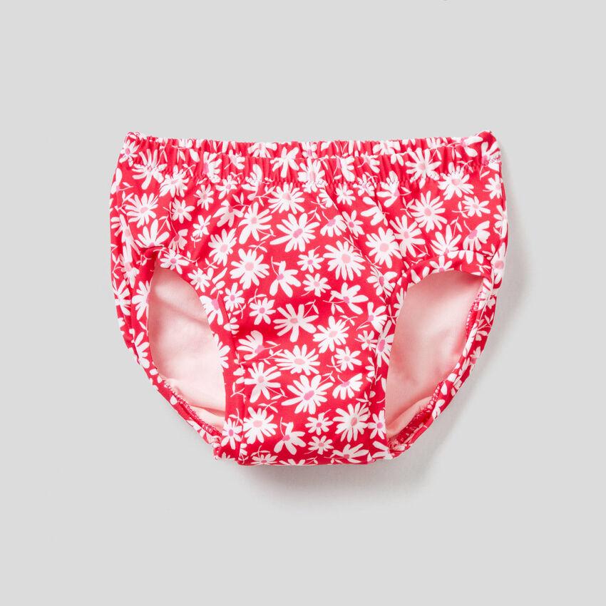 Fuchsia swim bottoms for baby girls
