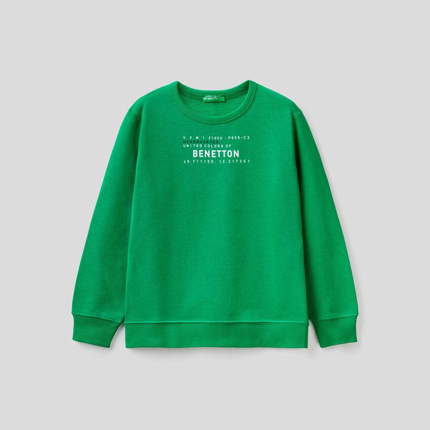Sweatshirt with logo print